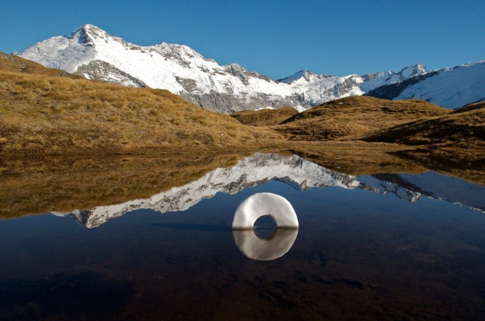 fine art prints are available for sale on line or from our wanaka ...: martin-hill.com/work/ephemeral-sculptures-2/cascade-saddle-ice-circle